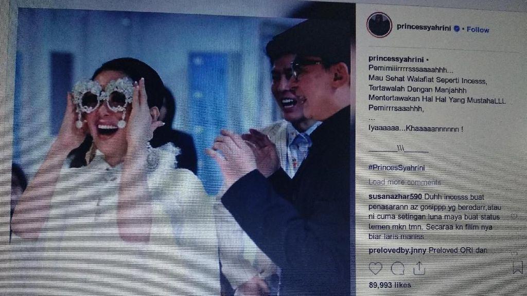 Unggah Tertawa Manja, Syahrini Diserbu Komentar soal Reino Barack