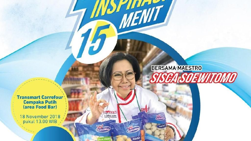 Besok Bu Sisca Buka Kelas Masak Gratis di Transmart Carrefour