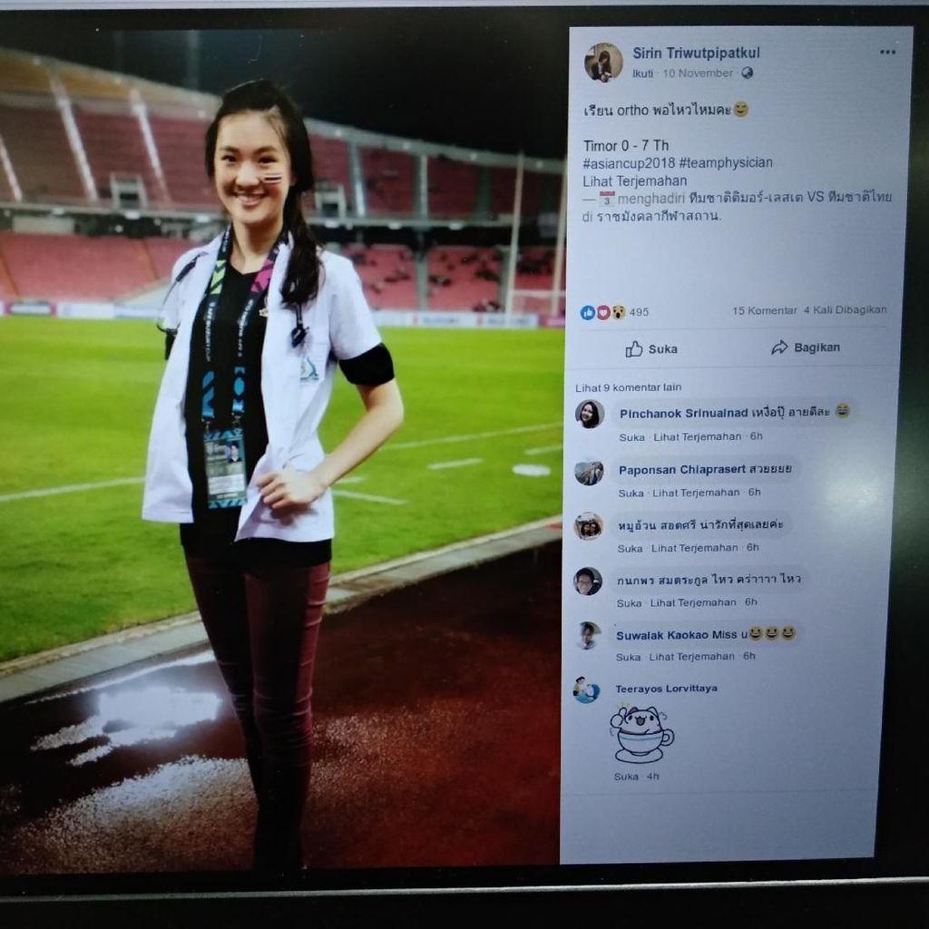 Gagal Fokus Deh Sama Dokter Cantik Timnas Thailand di Piala AFF