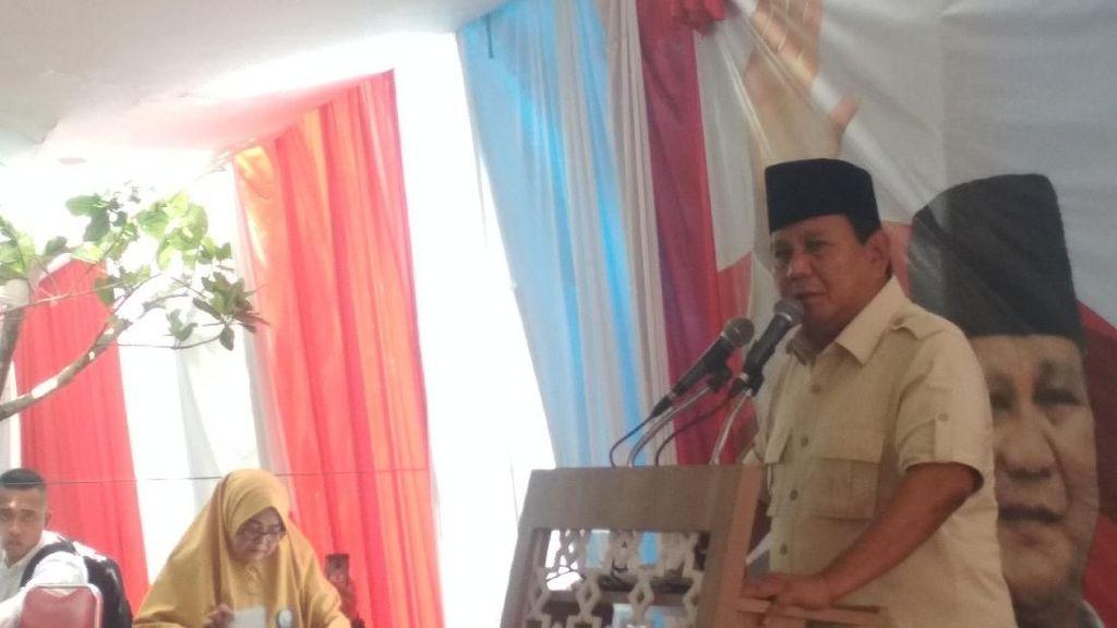 Ke Garut, Prabowo Bicara Kekayaan RI Dinikmati Kurang dari 1% Orang