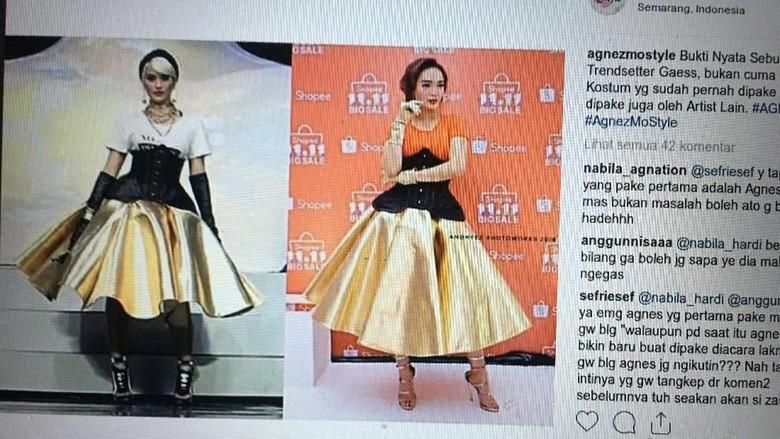 Pakai Dress Sama dengan Agnez Mo, Zaskia Gotik Dihujat