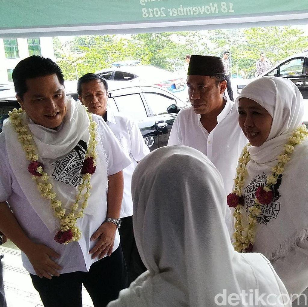 Ini Arahan Khofifah dan Erick Thohir Menangkan Jokowi di Jateng
