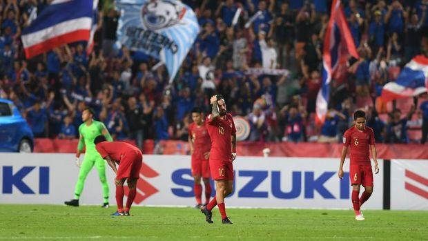 Timnas Indonesia kalah di laga ketiga fase grup Piala AFF 2018.