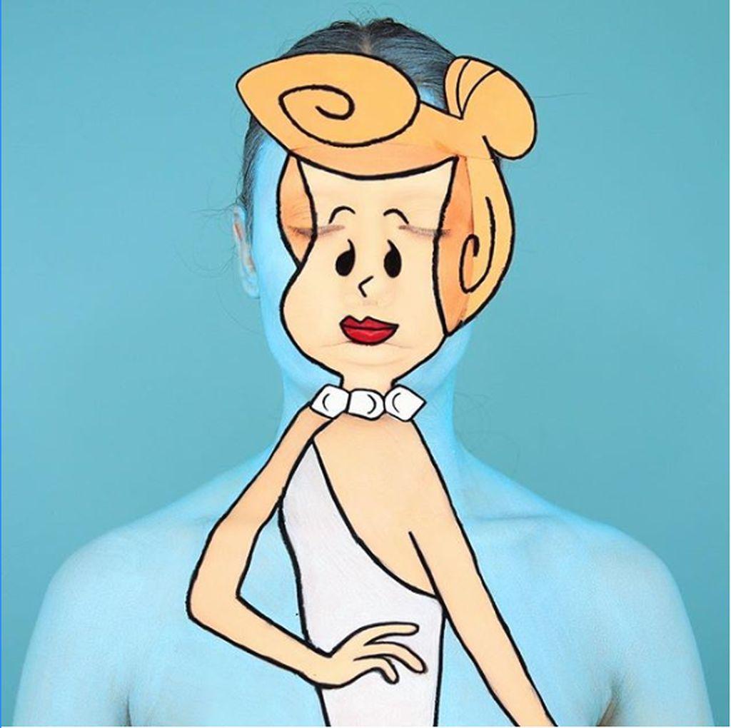 Keren! Selebgram Jago Makeup Ini Menjelma Jadi Kartun