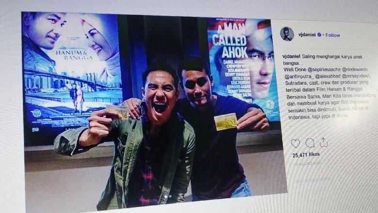 Salam Damai, Bintang Film Ahok-Hanum Rangga Saling Dukung Foto: @vjdaniel/ Instagram