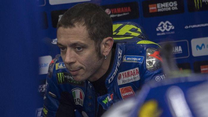 Valentino Rossi menyebut livery motor baru Yamaha seperti Inter Milan. Foto: Mirco Lazzari gp/Getty Images