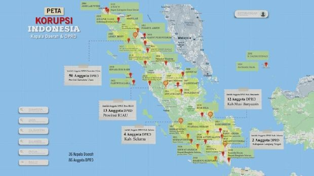 Ini Peta Kasus Korupsi se-Sumatera: Lebih dari 30 Kepala Daerah