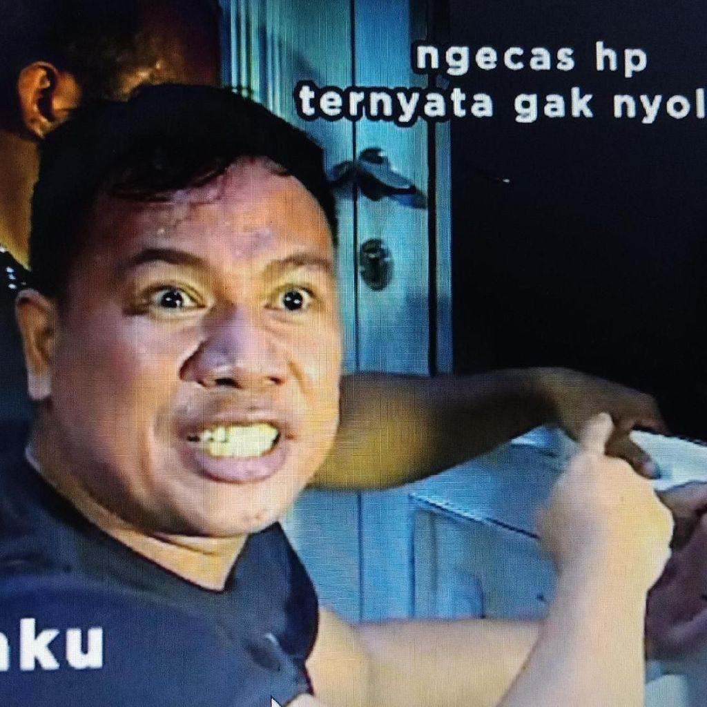 Kocak! Kemurkaan Vicky Prasetyo Gerebek Angel Lelga Jadi Meme