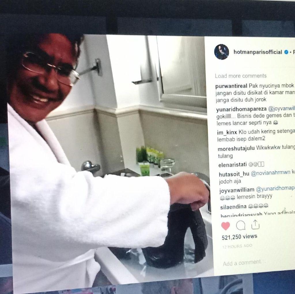 Terinspirasi Jackie Chan, Hotman Paris Cuci Celana Dalam di Hotel Mewah