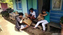 Pemuda Ciamis Sulap Limbah Bambu Jadi Karya Seni Bernilai
