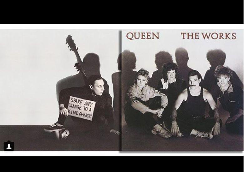 Seorang seniman bernama Igor mengedit foto cover album top dunia dan menambahkan hingga menjadi versi panjangnya seperti pada album Queen. Dok. Instagram/igor.lipchanskiy