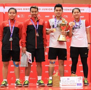 Leo/Indah Menangi All Indonesian Final di Kejuaraan Dunia Junior 2018