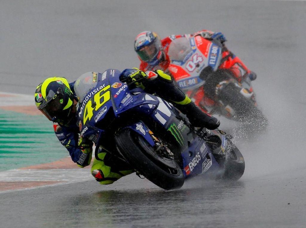 Momen Marquez hingga Rossi Tersungkur di MotoGP Valencia