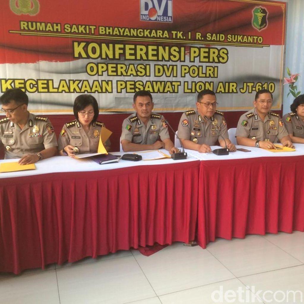 RS Polri Setop Pemeriksaan DNA Korban Lion Air 23 November