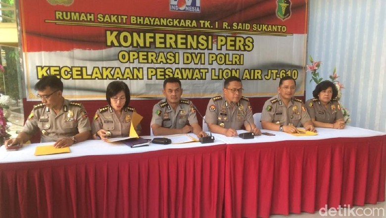 RS Polri Setop Pemeriksaan DNA Korban Lion Air 23 November