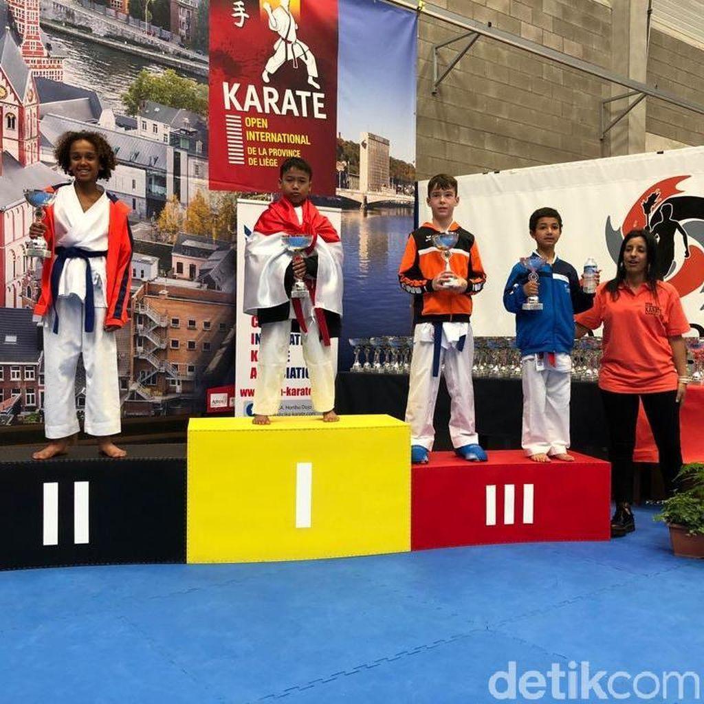 Juara! Bocah Solo Ini Raih Medali Emas Karate Internasional di Belgia