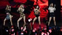 BLACKPINK menjadi salah satu pengisi acara di konser Shopee Road to 12.12 Birthday Sale. Konser ini pun sekaligus mengumumkan peran penting Lisa Cs di Shopee. Foto: Dok. Shopee