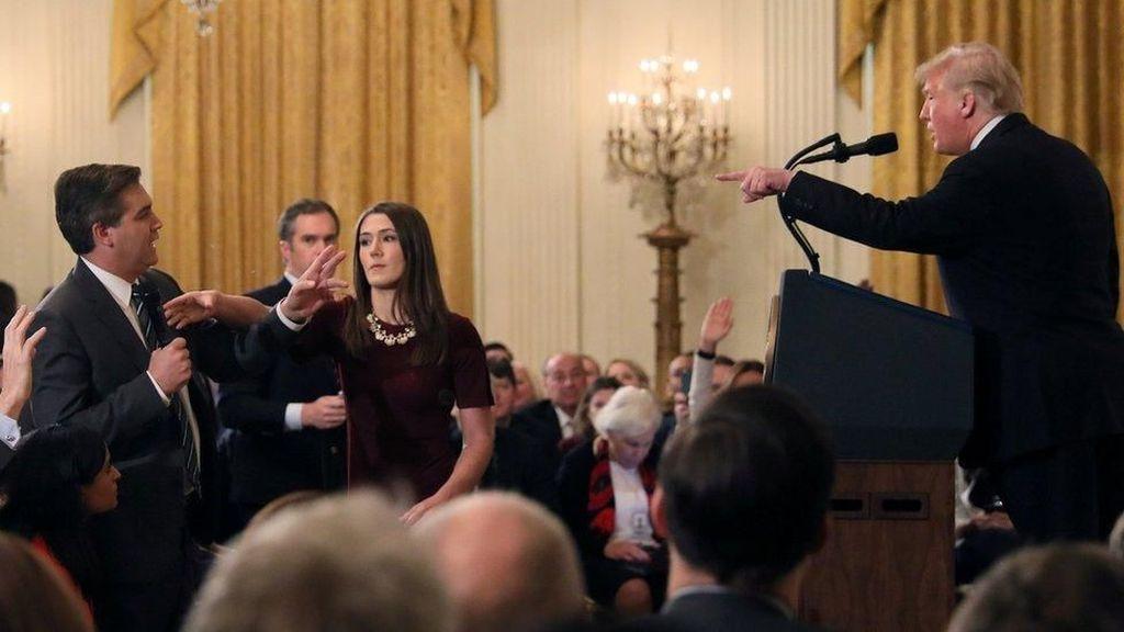 Wartawan CNN yang Cekcok dengan Trump Bisa Kembali ke Gedung Putih