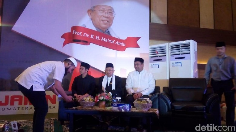 Maruf Amin Hadiri Maulid Nabi Bareng Ustaz Yusuf Mansur