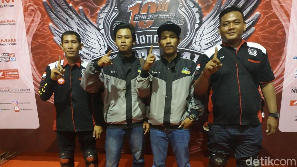 Rela Touring 2.500 Km demi Honda Bikers Day