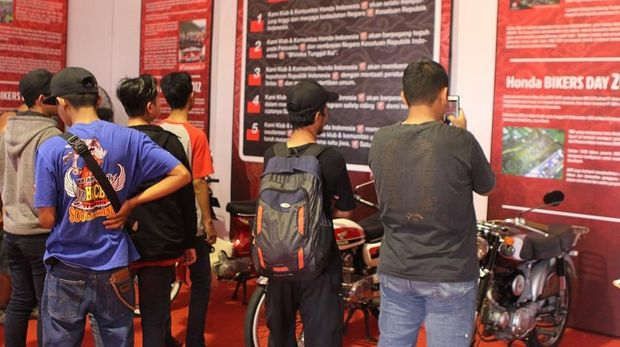 Peserta Honda Bikers Day 2018.