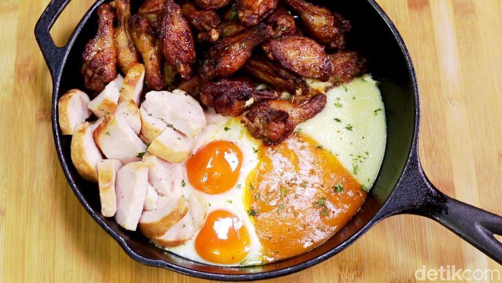 Resep Ayam: Fiesta Wings Cheesy Hotplate