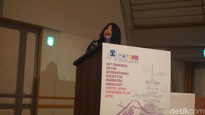 Presentasi dari Yayasan Onkologi Anak Indonesia atau YOAI (Foto: Aisyah/detikHealth)