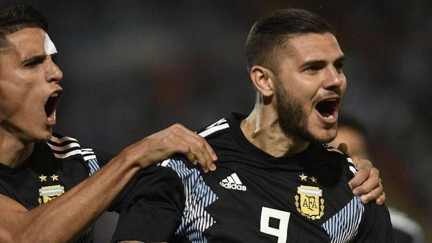 Mauro Icardi berhasil mencetak gol ke gawang Meksiko.