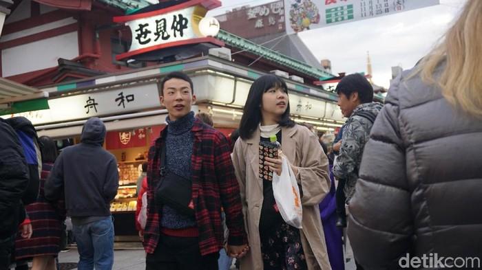 Di Tokyo, warga lebih suka jalan kaki dibanding naik kendaraan pribadi (Foto: Aisyah/detikHealth)
