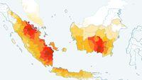 Daerah di Indonesia yang dihitung AQLI memiliki kondisi polusi udara parah.