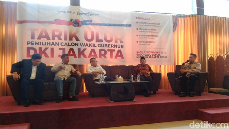PKS Khawatir Dinamika Wagub DKI Pengaruhi Prabowo-Sandiaga