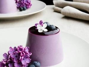 Nyam! Cantiknya Puding Taro yang Creamy dan Legit