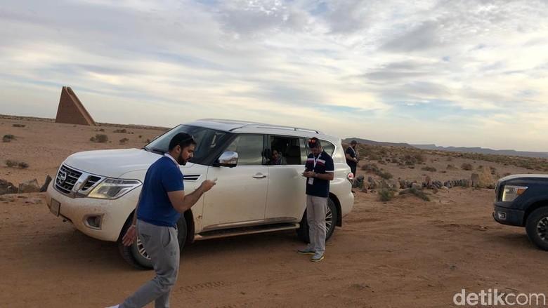 Uji Nissan di Gurun Sahara Foto: Deden Gunawan/detikOto