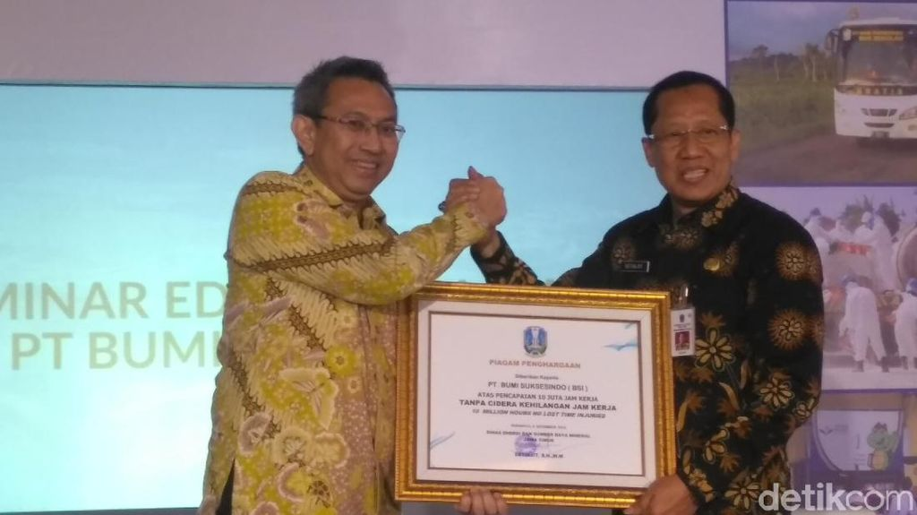 Pengelola Tambang Emas Tumpang Pitu Banyuwangi Raih Penghargaan K3
