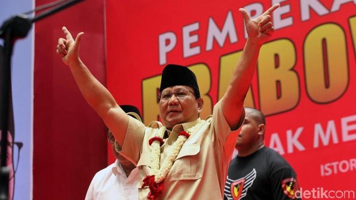 Foto: Prabowo Subianto (Lamhot Aritonang/detikcom)