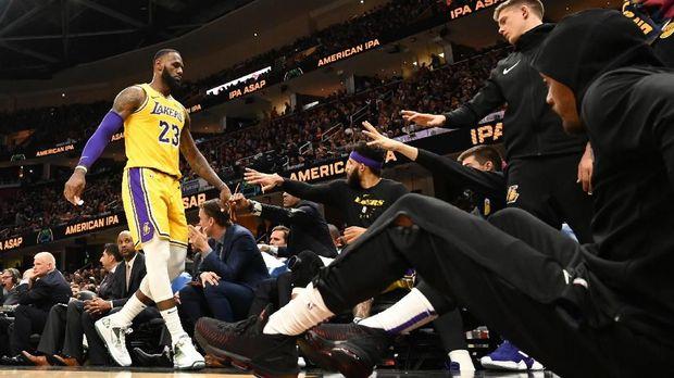LeBron James musim ini membela Los Angeles Lakers.