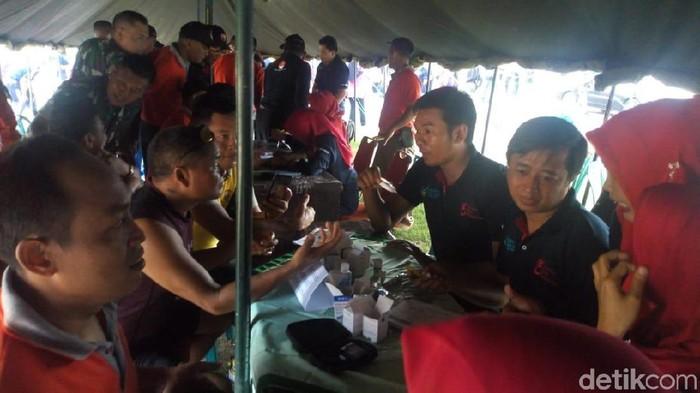 Pemeriksaan HIV dan AIDS bersama Dinas Kesehatan Ponorogo. Foto: Charolin Pebrianti