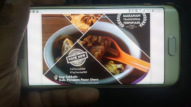 Makanan Tradisional Populer dimenangkan Sop Tekkalo dari Kabupaten Penajam Paser Utara. (Fitraya/detikTravel)