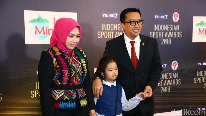 Menpora Imam Nahrawi saat hadiri acara Indonesian Sport Awadrs 2018. (Muhammad Ridho/detikSport)