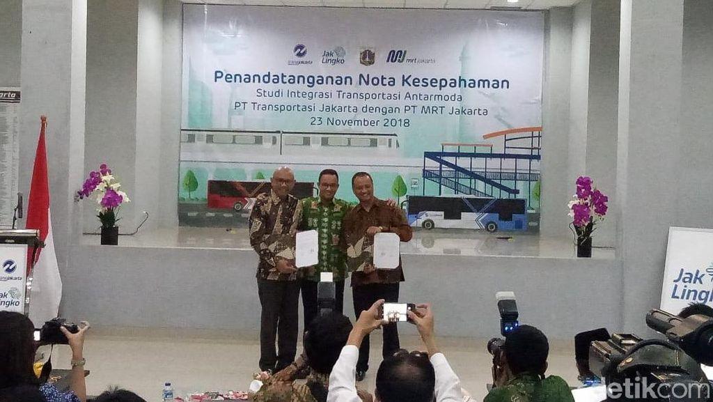 MRT dan Transjakarta Kerja Sama Bikin Stasiun Penghubung