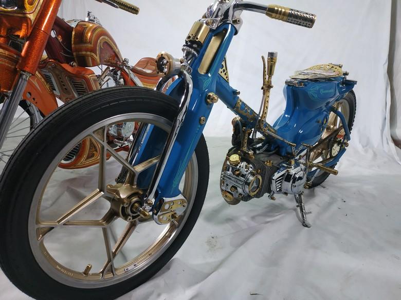 Motor Modifikasi Tunggangan Raja Salman. Foto: AHM