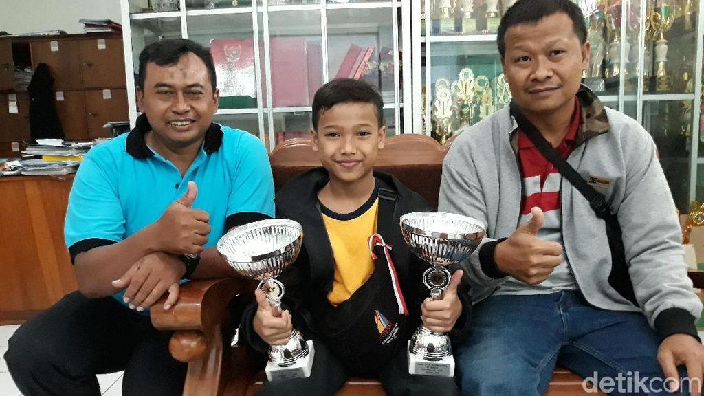 Nanda, Bocah Solo Ini Juara Liga Karate Internasional di Belgia