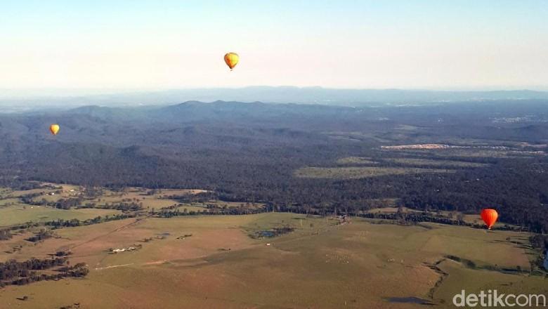 Naik Balon Udara di Gold Coast, Australia