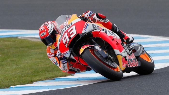 Marc Marquez membuat lelucon dengan mengaku tidak akan menggunakan nomor 93 di MotoGP 2019. (Foto: Reuters)