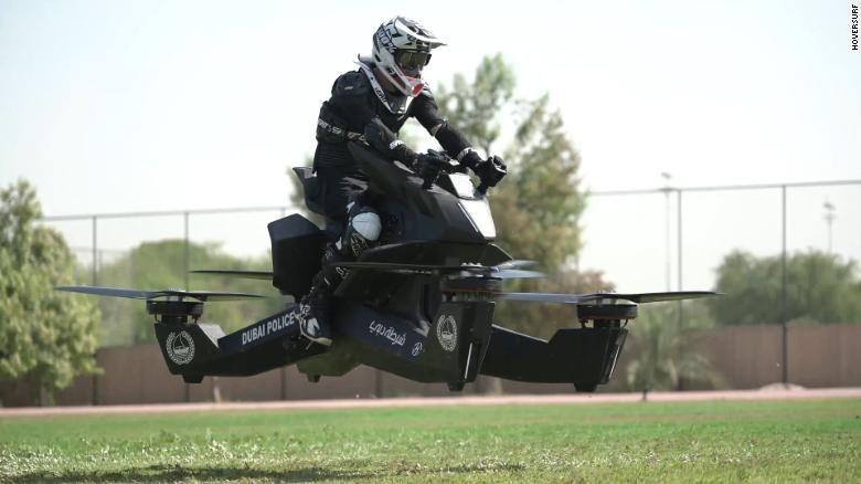 Motor terbang polisi Dubai. Foto: Hoverbike