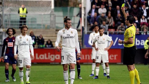 Real Madrid mengalami kekalahan kelima di Liga Spanyol ketika bertamu ke Eibar.
