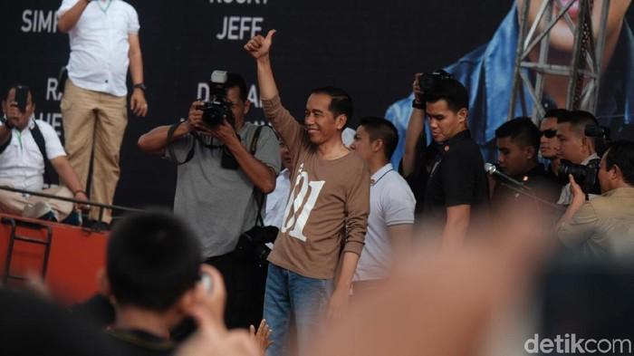 Capres Joko Widodo. (Foto: Andhika Prasetia/detikcom)