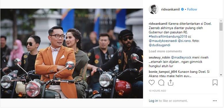 Foto: Instagram/Ridwan Kamil