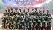 Raih 32 Emas, TNI AD Optimistis Jadi Juara Umum di AARM 2018