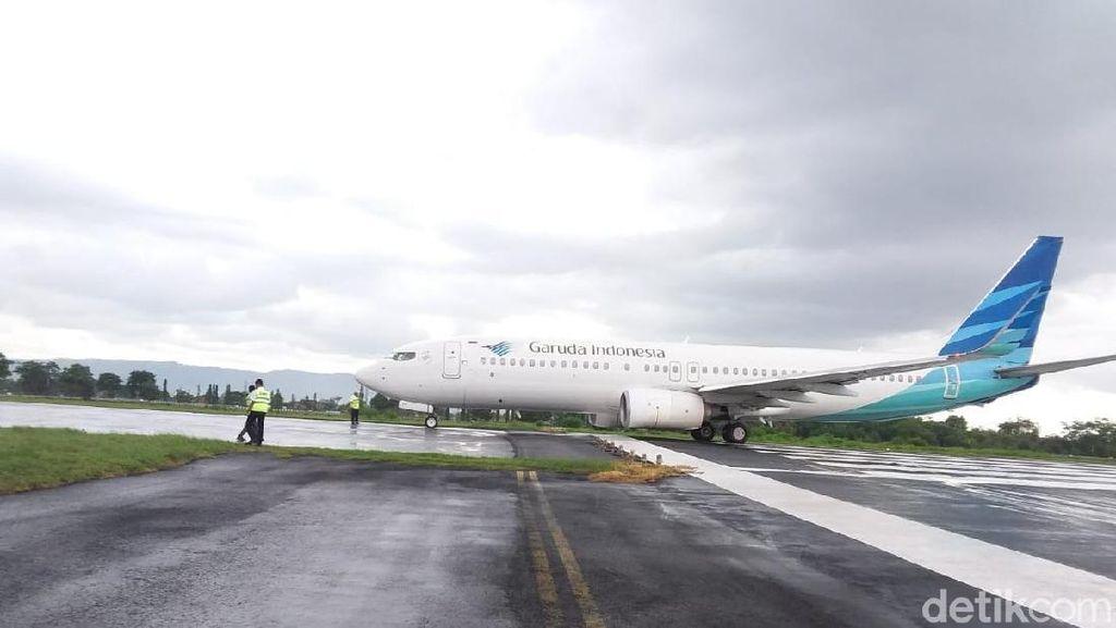 Ini Dia Penampakan Pesawat Garuda yang Tergelincir di Yogya